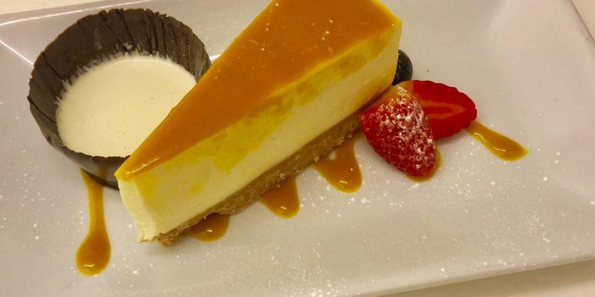 Homemade Mango and Passionfruit Cheesecake
